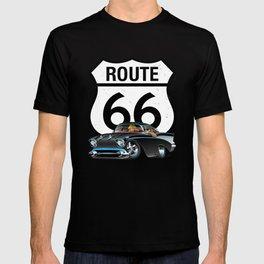 Route 66 Classic Car Nostalgia T-shirt