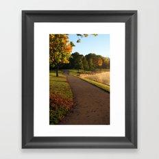 Fall Stroll Framed Art Print