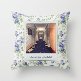 Who ate my chocolate? Throw Pillow