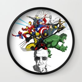 "Stan ""The Man"" Lee Wall Clock"