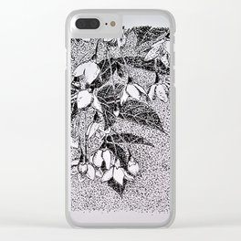 Japanese Snowbells Clear iPhone Case