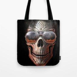 triball skull / Gothique Poster - Feu D'Enfer Tote Bag