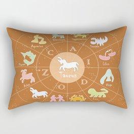 Taurus, 2, Zodiac, Astrology, Horoscope, Stars, Sun-and-moon. Birthday, Valentines-day, Holidays, Rectangular Pillow