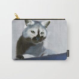 Blue Snow Shoe Cat on the Prowl Carry-All Pouch