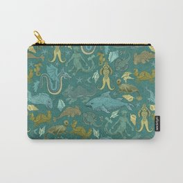 Deepsea Cryptids in Sea Green Carry-All Pouch