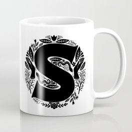 Letter S monogram wildwood Coffee Mug