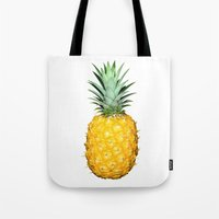 pinapple Tote Bags featuring Pineapple by CumulusFactory