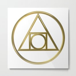Alchemical symbol Metal Print