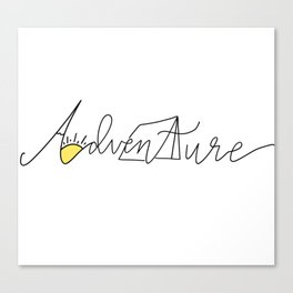 Adventure Things Canvas Print