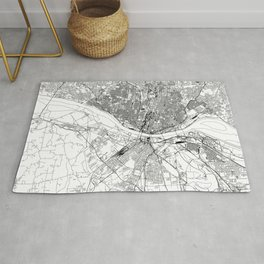St. Louis White Map Rug