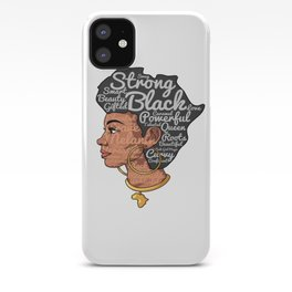 Melanin Afro Motivation Woman iPhone Case
