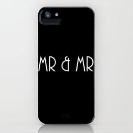 Mr & Mr Monogram Vintage Sophistication iPhone Case