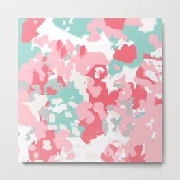 Arabella - abstract painting hipster home decor trendy color palette art gifts Metal Print