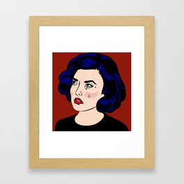SAD GIRLS CLUB MEMBER AUDREY HORNE Framed Art Print