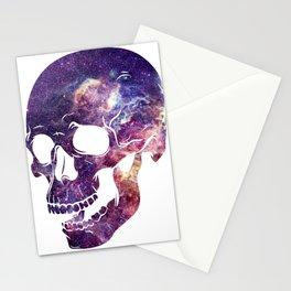galaxy skull Stationery Cards
