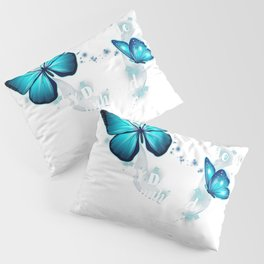 Those We Love Don't Go Away They Walk Beside Us Butterfly T-Shirt Pillow Sham
