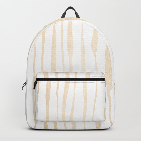 White Gold Sands Ink Pinstripes Backpack