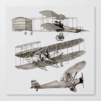 airplanes Canvas Prints featuring airplanes 3 by Кaterina Кalinich