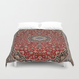 N63 - Red Heritage Oriental Traditional Moroccan Style Artwork Duvet Cover