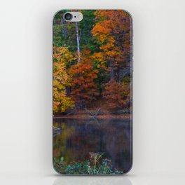 Autumn Foliage at Loch Raven Reservoir iPhone Skin