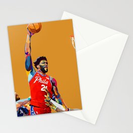 Joel Embiid / Philadelphia-Phila-Philly 76 ers Basketball Player Dunking on LeBron the Laker Stationery Cards