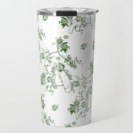 Penis Pattern GREEN Travel Mug