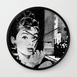 Miss Golightly - black Wall Clock