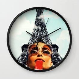summer in Paris Wall Clock