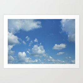 Swedish Summer Sky With Clouds Art Print