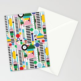 Memphis Milano Postmodern City Towers Stationery Cards