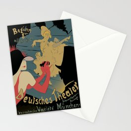Vintage Deutsches Theater Poster Canvas Print Stationery Cards