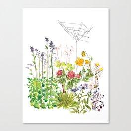 Brit Flowers Canvas Print