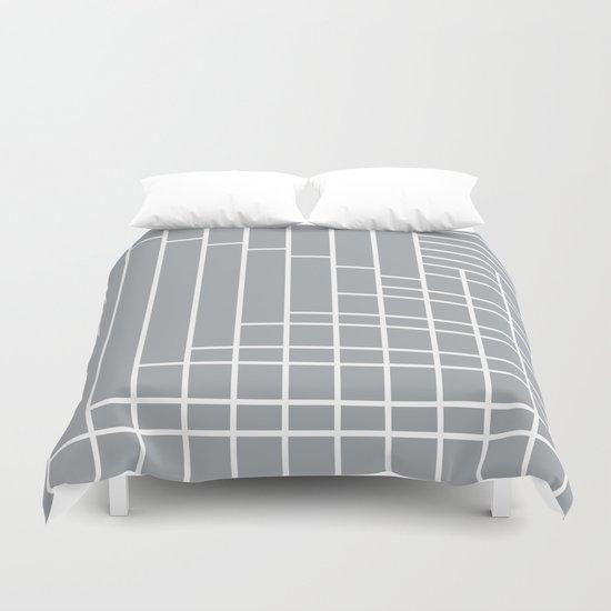 Fuzz Outline Grey Duvet Cover