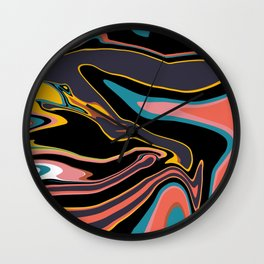 Marbleized 2 Wall Clock