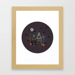 Halloween Haunted Houses Framed Art Print
