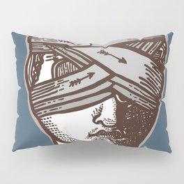 Wrapped Head Engraving Study Pillow Sham