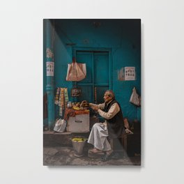People Of Old Delhi, India Metal Print