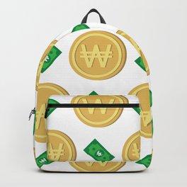 Korean won pattern background Backpack