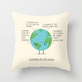 Wonders of the world Throw Pillow