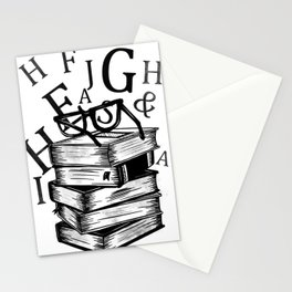 Book lovers reading t-shirt teachers librarians Stationery Cards
