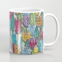 tulips Mugs featuring tulips by Sharon Turner