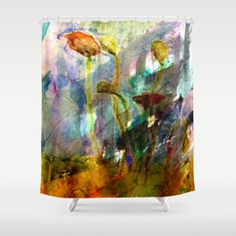 flowers on the field Shower Curtain