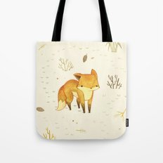 Lonely Winter Fox Tote Bag