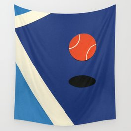 Jumping Tennis Ball Wall Tapestry