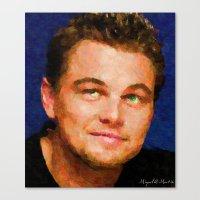 leonardo dicaprio Canvas Prints featuring Hollywood - Leonardo DiCaprio by Miguel A. Martin