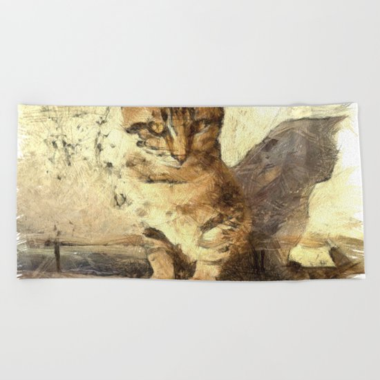 All Cats Are Black In The Dark Beach Towel