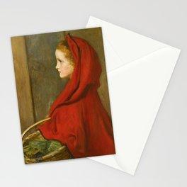 "John Everett Millais ""Red Riding Hood (A Portrait of Effie Millais, the artist's daughter)"" Stationery Cards"