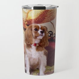 Ribbons, Bells And Cavalier King Charles Spaniel Travel Mug