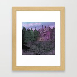 Misty Mansion Framed Art Print