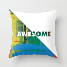 Color Chrome - Awesome graphic Throw Pillow